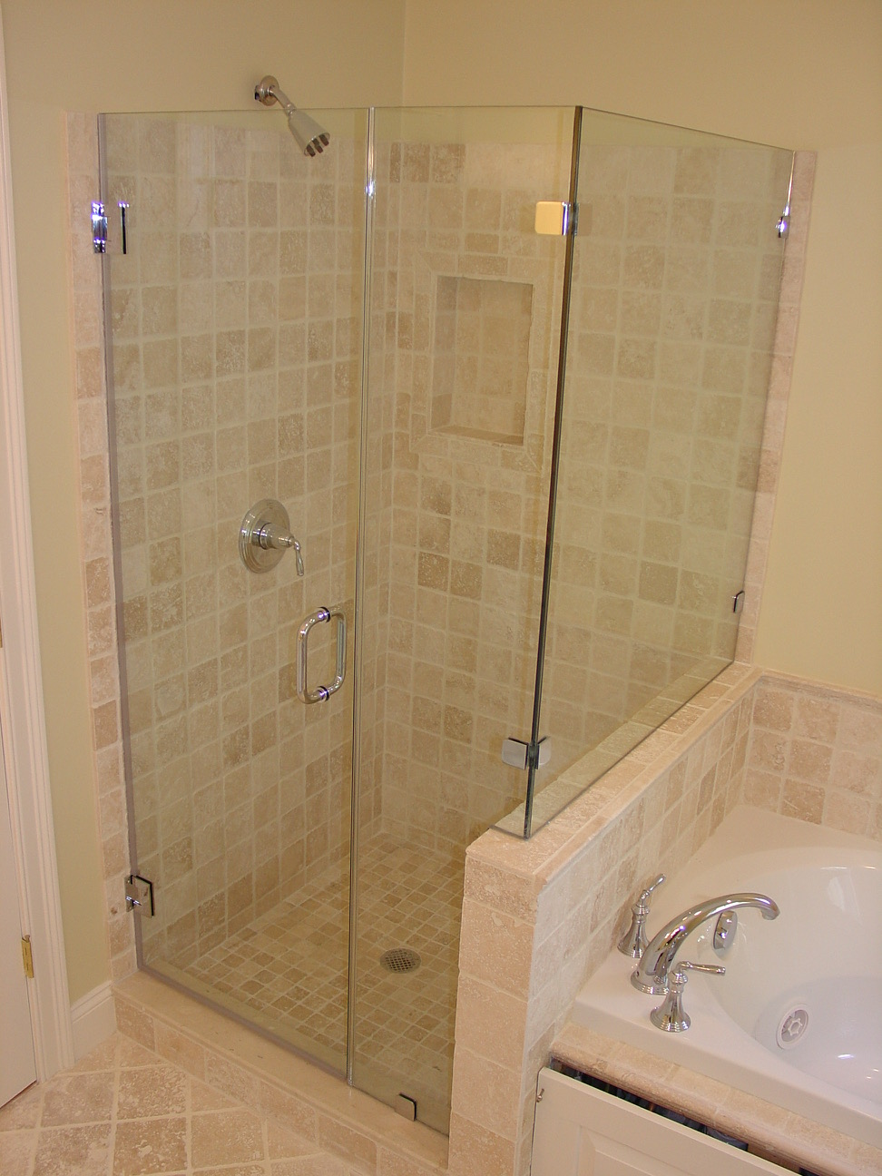 frameless corner shower