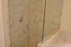 frameless corner shower